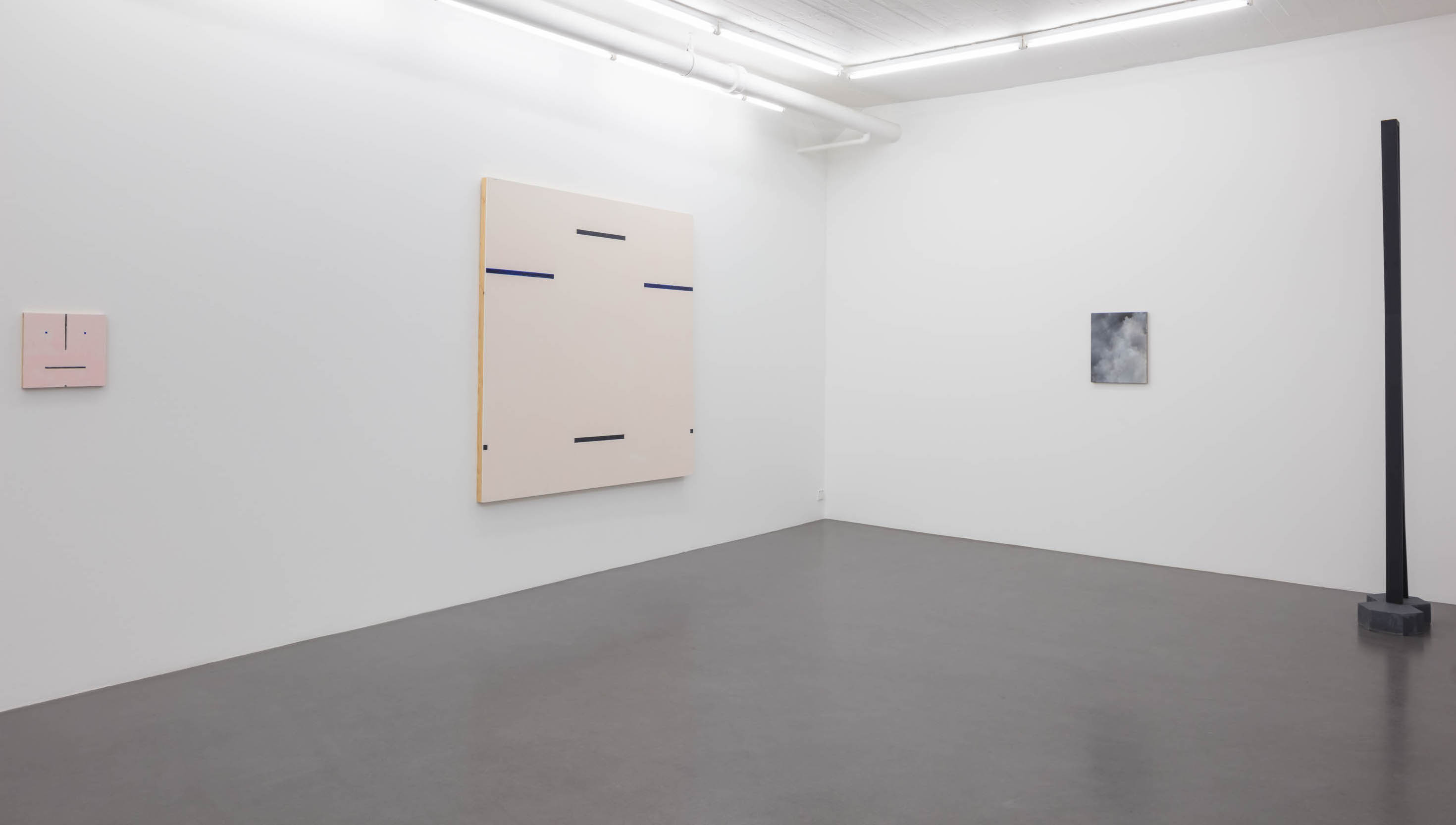 Installationview: Lars Olof Loeld/Jakob Solgren 2017 at Galleri Flach