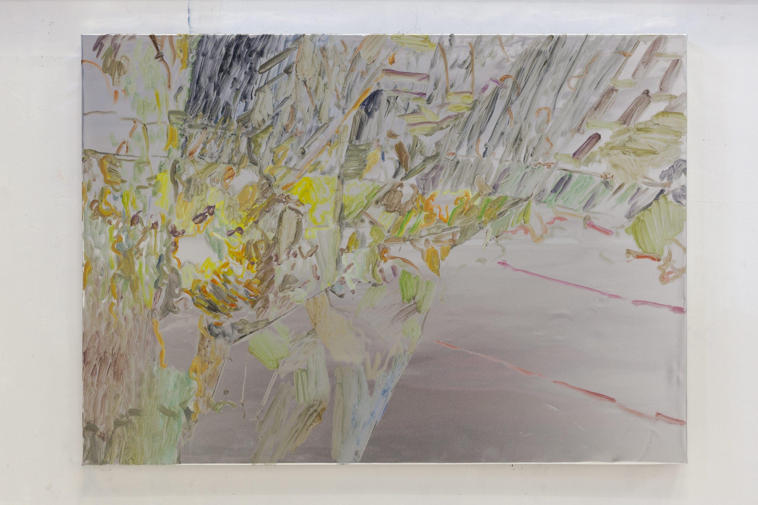 Henrik Eriksson, Utan titel (Goa 03), 2018. Oil on aluminium, wooden frame, 85x60 cm,