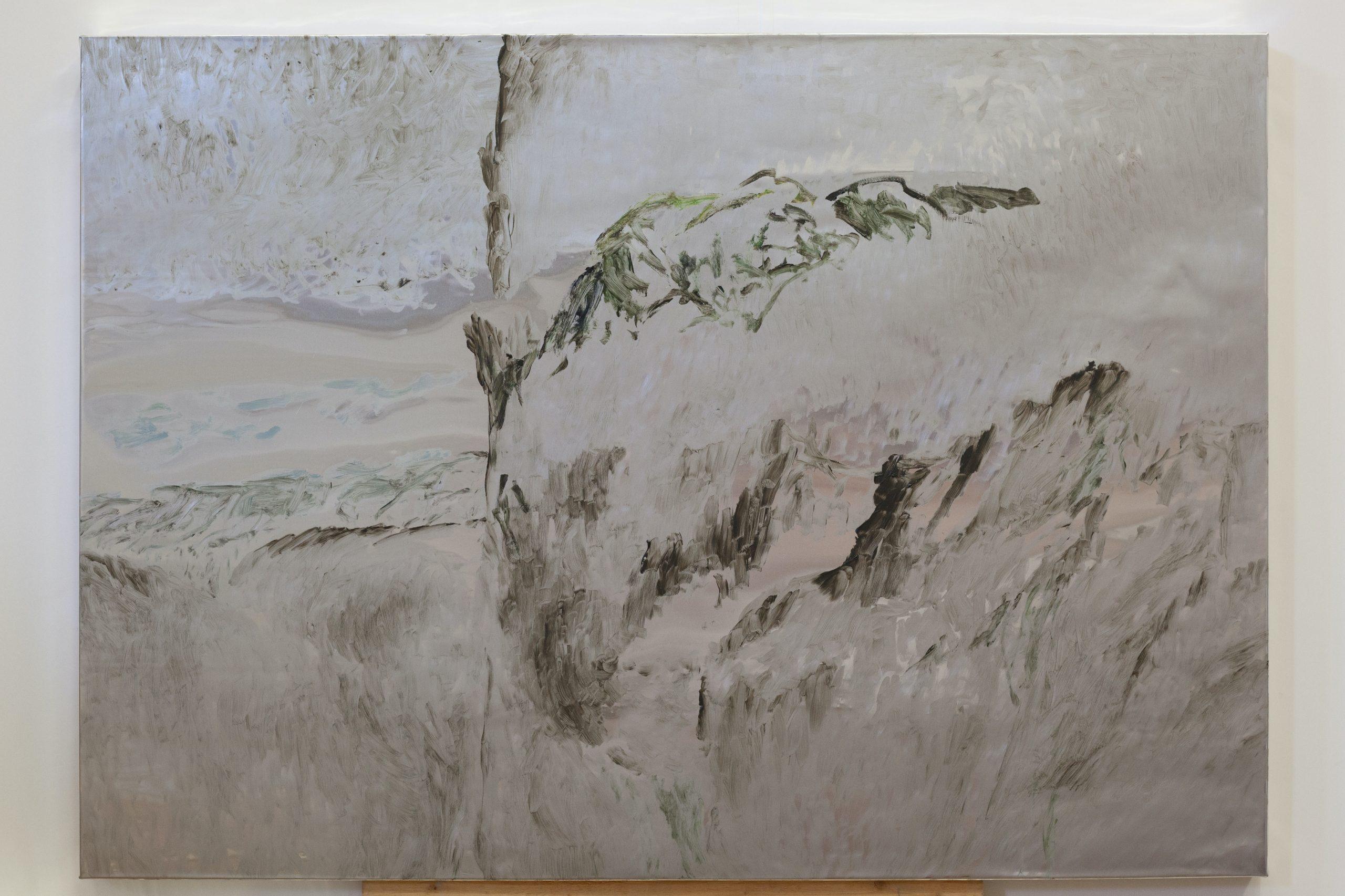 Henrik Eriksson, Utan titel (FM8 03), 2018. Oil on aluminium, wooden frame, 85x60 cm,