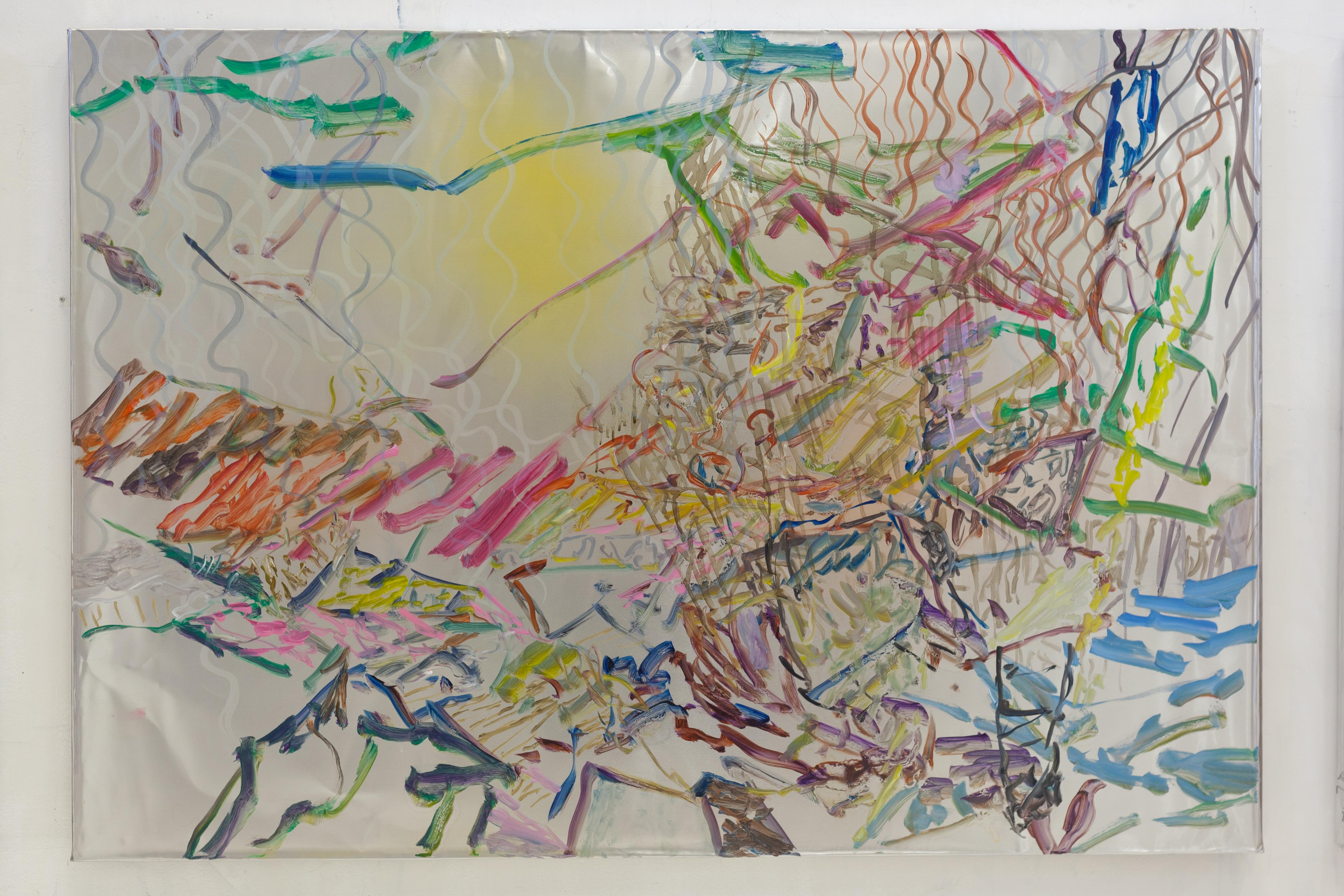 Henrik Eriksson, Utan titel (dhs 07), 2018 Oil on aluminium, 85 x 122 cm