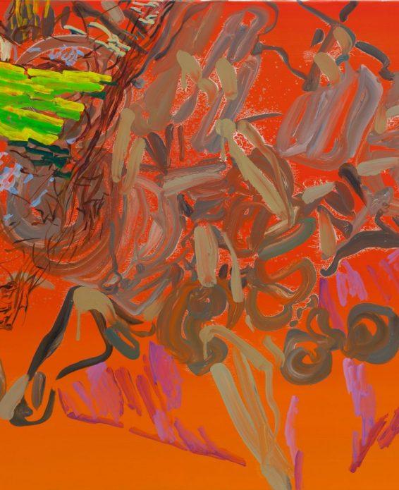 Henrik Eriksson, Untitled, Oil on Aluminium, (detail), 2019