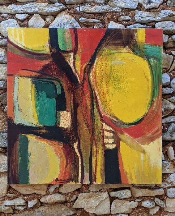 "Edlef Romeny (1926 - 2017). ""Jeu de Lumière"", 1994. Oil on canvas.  90 x 90 cm."