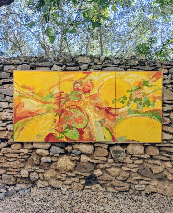 "Edlef Romeny (1926 - 2017). ""Tryptique d'automne"", 1968. Oil on canvas 213x103"