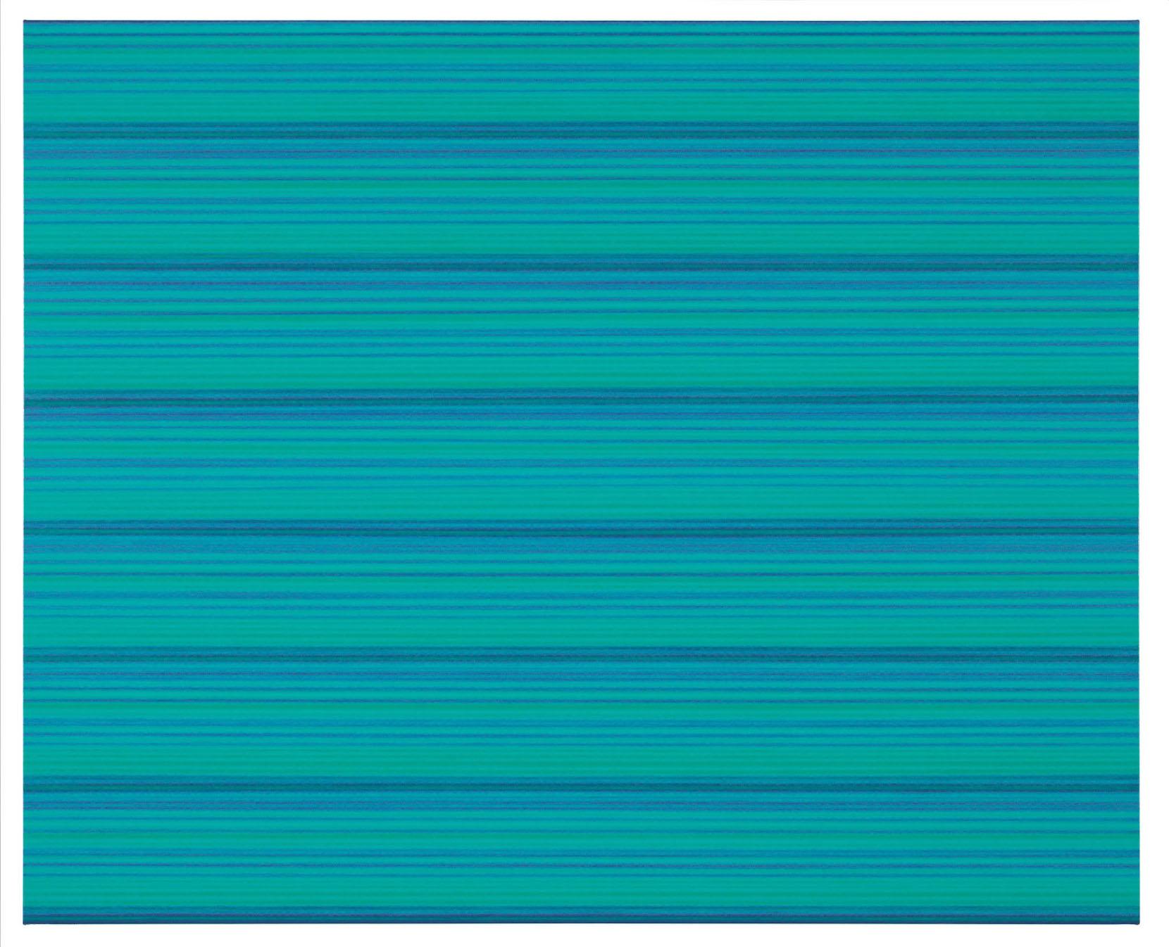 """Rickard Sollman, """"syskonet (grön)"""", 2012, oil on canvas, 130 x 160 cm"""