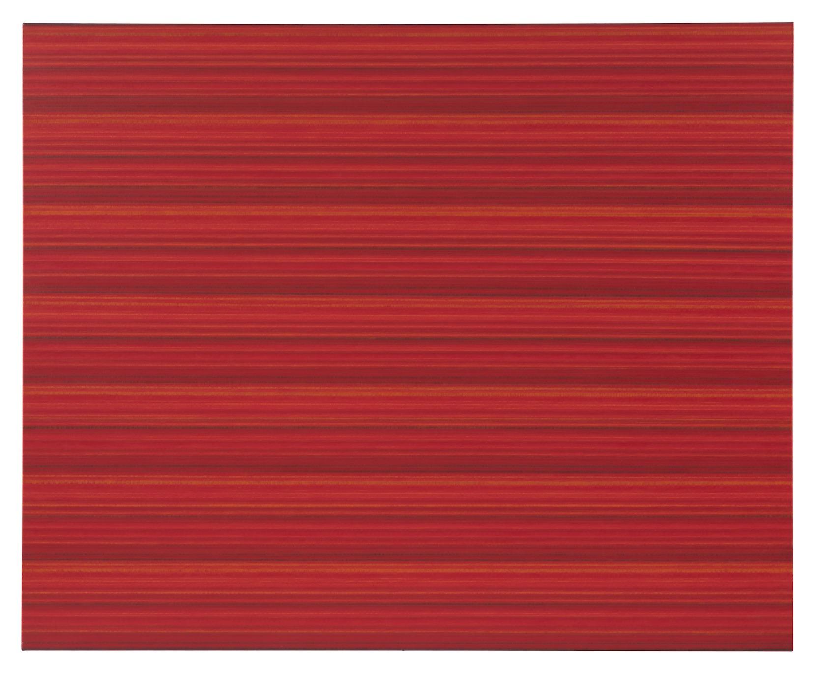 "Rickard Sollman, ""syskonet (röd)"", 2012, oil on canvas, 130 x 160 cm"
