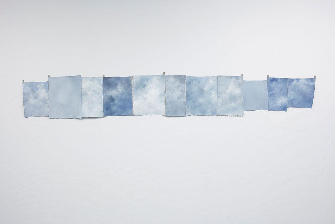 """Jakob Solgren, """"Vältvägg"""", 2017. Oil on canvas, 245 x 25, 30, 40 cm"""