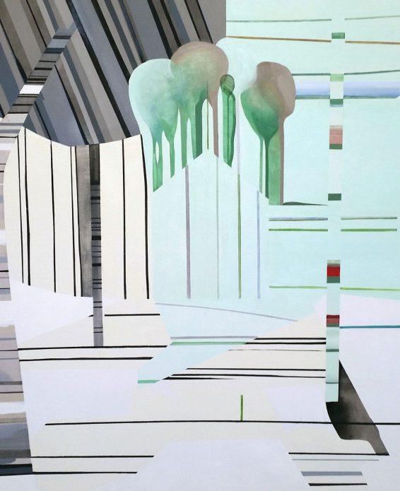 "Hillevi Berglund, ""Spring"", 132 x 105 cm, oil on canvas."