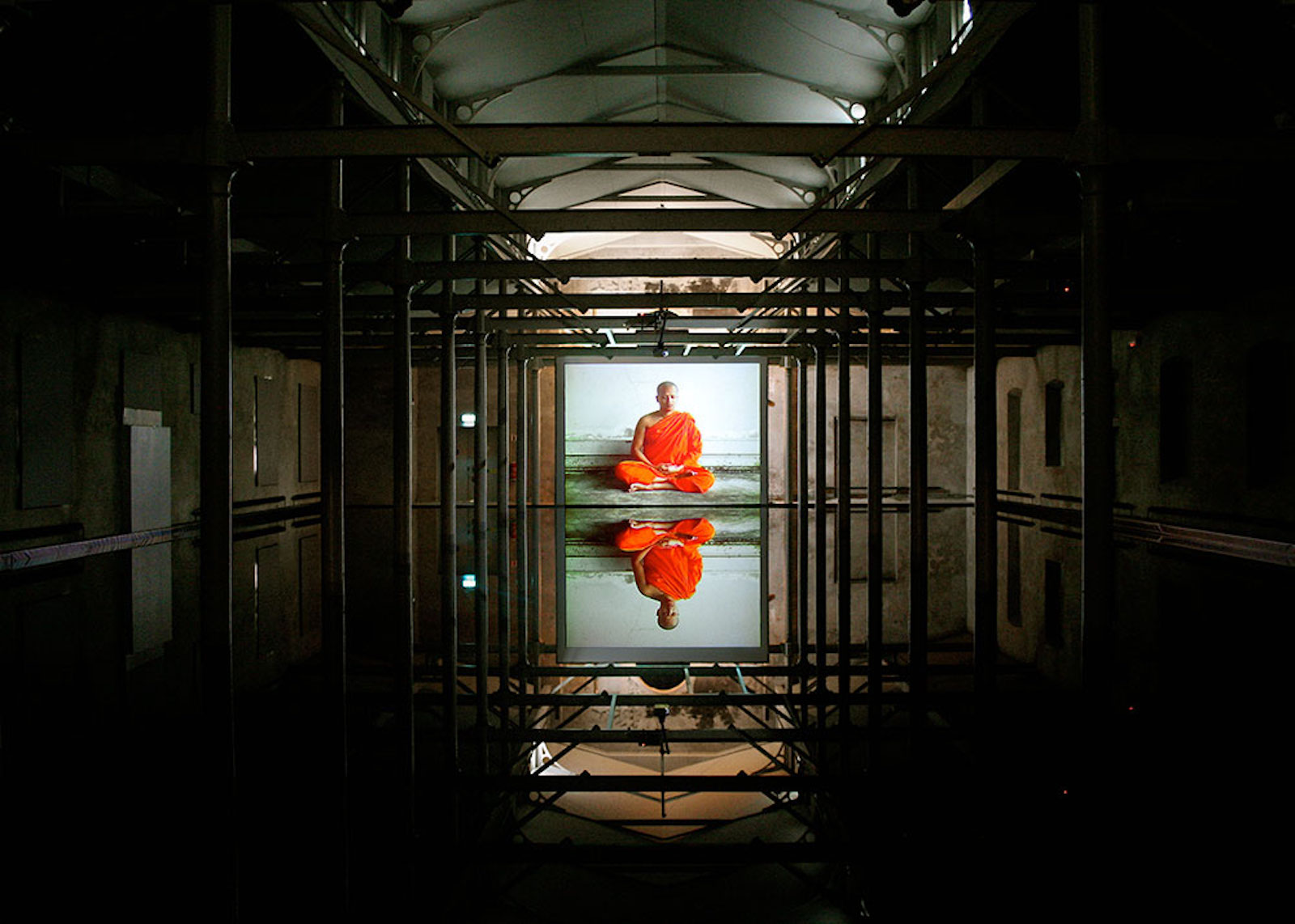 "Fredrik Wretman, ""Goatrans Pacific"", 1997, Installation view Färgfabriken, Stockholm"